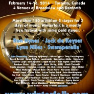 Winterfolk Blues and Roots Festival returns to west end of Danforth Avenue