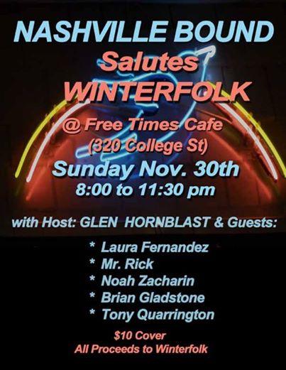 Nashville Bound Salutes Winterfolk – 11/30/14 – Toronto, Ont – Freetmes Cafe